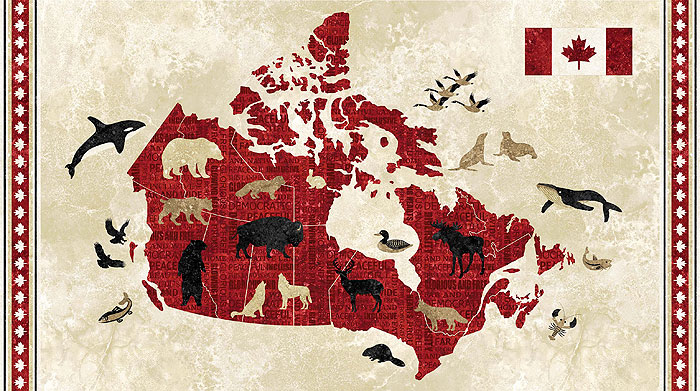 "Canada - Country Map - 24"" x 44"" PANEL"