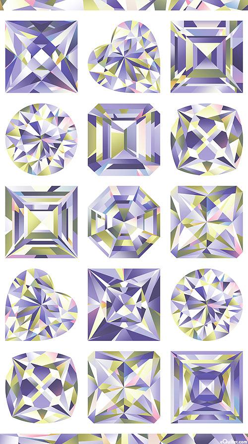 "Facets - Crown Jewels - 24"" x 44"" PANEL - DIGITAL PRINT"