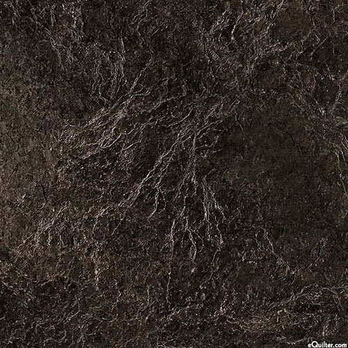 The Great Outdoors - Stone Textures - Black - FLANNEL