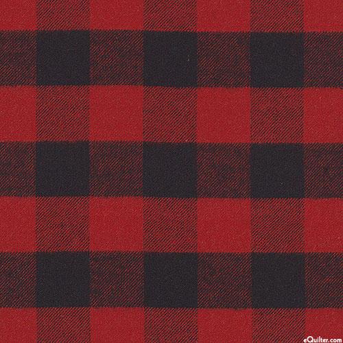 West Creek Wovens - Buffalo Check Yarn-Dye - Dk Red