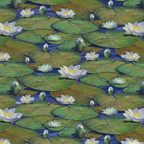 The Great Blue - Lily Covered Pond - Leaf Green - DIGITAL