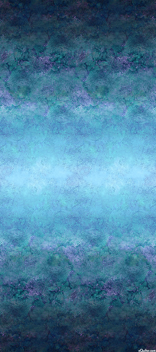 "Stonehenge Ombre - Quarry Mirror - Blue - 108"" QUILT BACKING"