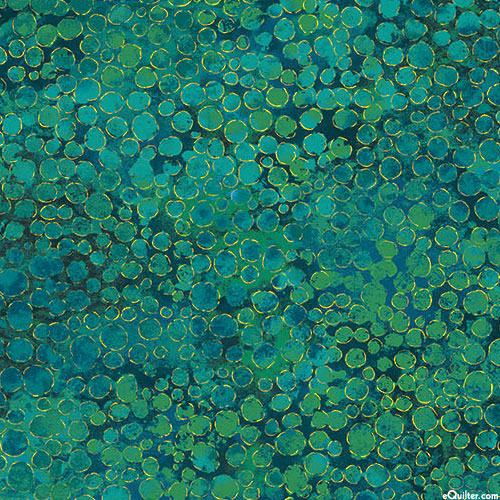 "Shimmer - Caviar Riches - Malachite Green - 108"" QUILT BACKING"
