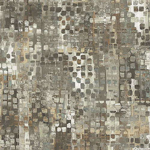 """Ophelia - Natural Dots - Stone Gray - 108"""" QUILT BACKING"""