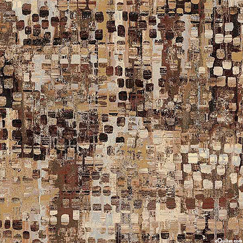 """Fusion - Mixed Eclectic - Maple Brown - 108"""" QUILT BACKING"""