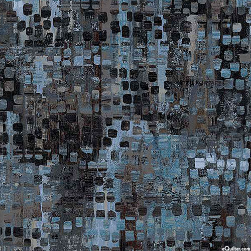 """Fusion - Mixed Eclectic - Ink Blue - 108"""" QUILT BACKING"""