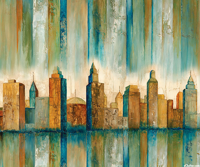 "Urban Reflections - Towering Skyline - 36"" x 44"" PANEL - DIGITAL"
