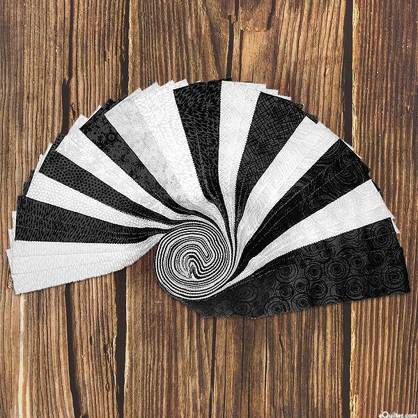 "Basically Black & White - 2 1/2"" Strip Roll"