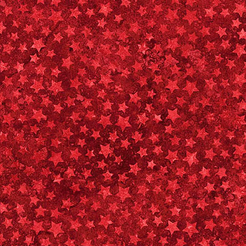 Stonehenge Stars & Stripes - Starry Sky - Cranberry Red