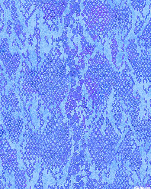 Shimmer Wild Thing - Tropical Snakeskin - Periwinkle/Gold