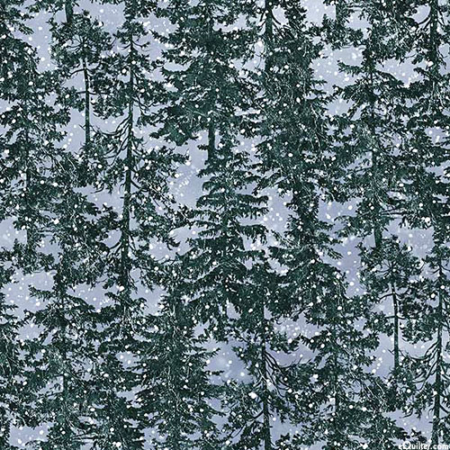 Naturescapes Silver Moon - Pines & Flurries - Powder Blue