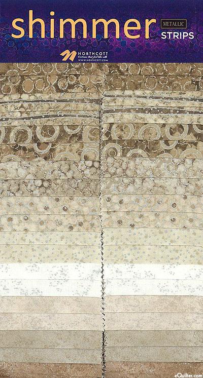"""Shimmer Strips - Sand - Metallic 2 1/2"""" Strips"""