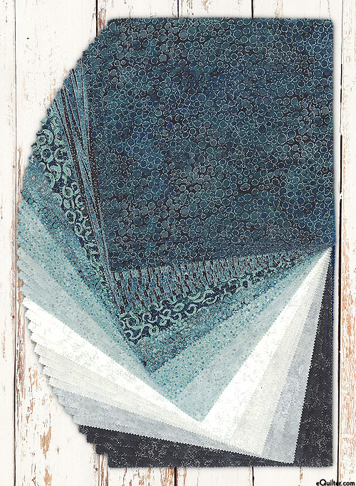 "Shimmer Tiles - Iceberg - Metallic - 10"" Squares"