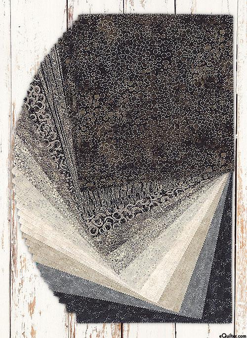 """Shimmer Tiles - Black Earth - 10"""" Squares"""