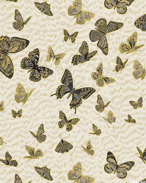 Fantasia - Swarm of Butterflies - Natural/Gold