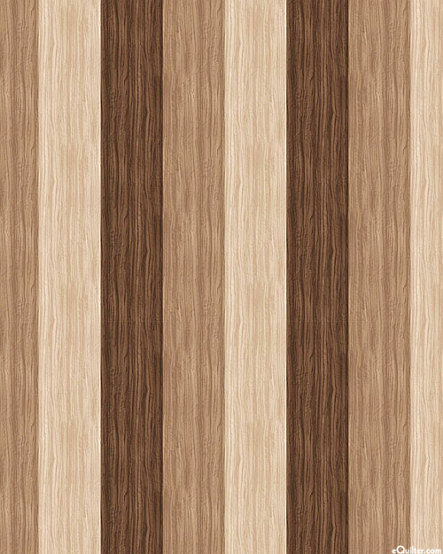 The View from Here - Wood Plank Stripe - Taupe