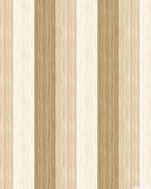 The View from Here - Wood Plank Stripe - Whitewash