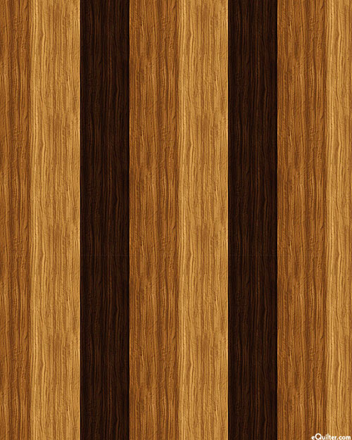 The View from Here - Wood Plank Stripe - Maple Brown