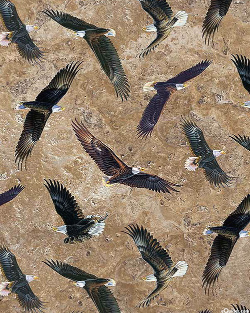 On Freedom's Wing - Cliffside Eagles - Baked Earth Brown