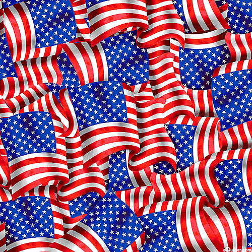 Stars & Stripes Forever - Flags in the Wind - Multi