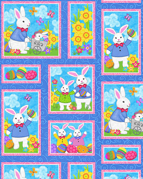 Hello Spring - Easter Bunny Party - Dk Blue