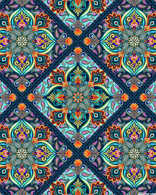 Blooming Paisley - Stained Glass - Multi