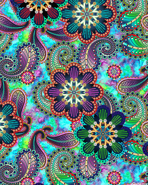 Blooming Paisley - Florals - Multi