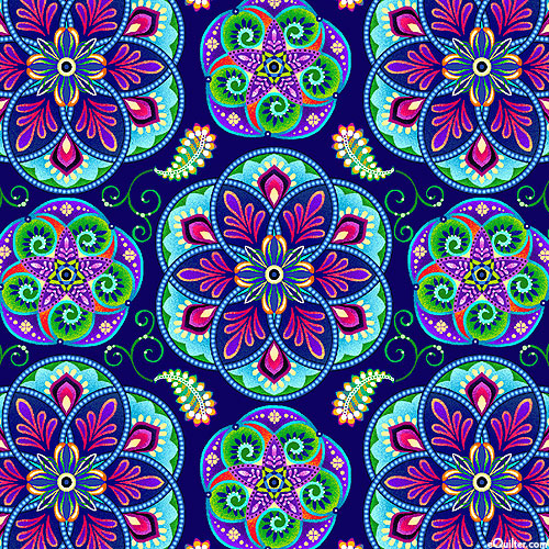 Blooming Paisley - Psychedelic Flowers - Plum