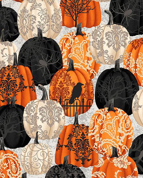 Spooky Night - Haunted Pumpkins - Smoke Gray