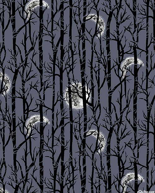 Spooky Night - Haunted Forest - Charcoal Gray