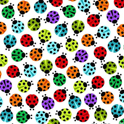 I'm Buggin' Out - Lovely Ladybugs - White