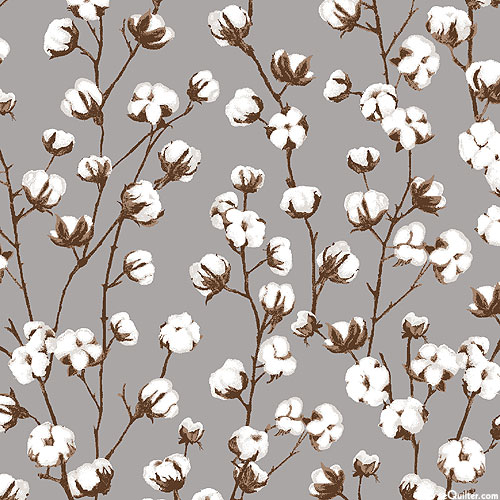Loads of Fun - Cotton in the Field - Pewter Gray