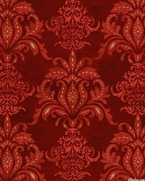 Le Poulet - Feathered Damask - Garnet Red
