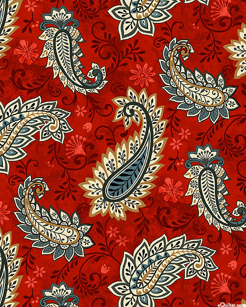 Le Poulet - French Country Paisley - Garnet Red