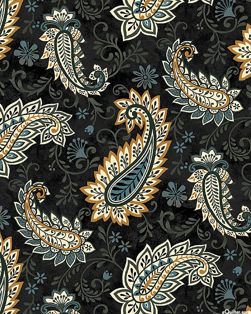 Le Poulet - French Country Paisley - Warm Black