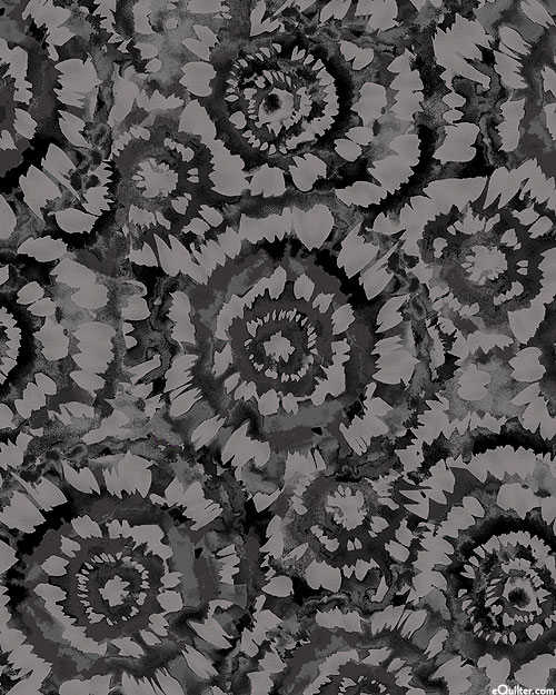"""Spin Art - Charcoal Gray - 108"""" QUILT BACKING"""