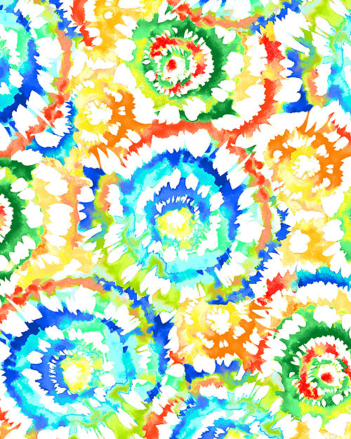 """Spin Art - Bright - 108"""" QUILT BACKING"""