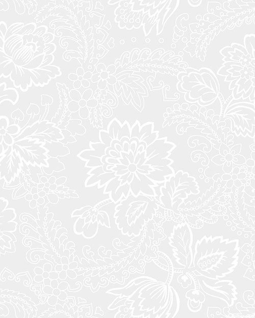 """Touch of White - Vintage Garden - White - 108"""" QUILT BACKING"""