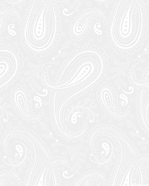 """Touch of White - Fine Paisleys - White - 108"""" QUILT BACKING"""