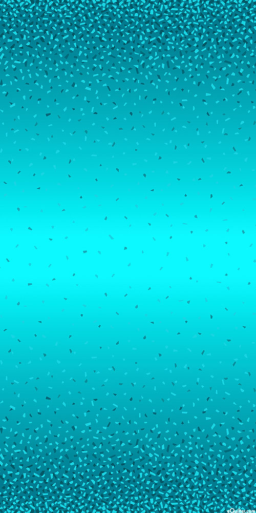 Snippets II - Falling Confetti Ombre - Teal/Pearl