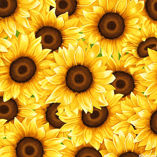 Sunny Sunflowers - Packed Petals - Sunny Yellow