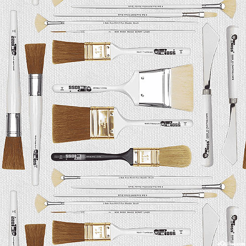 The Joy of Painting - Brushes & Tools - Gray - DIGITAL PRINT