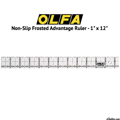 "Olfa Non-Slip Frosted Advantage Ruler - 1"" x 12"""