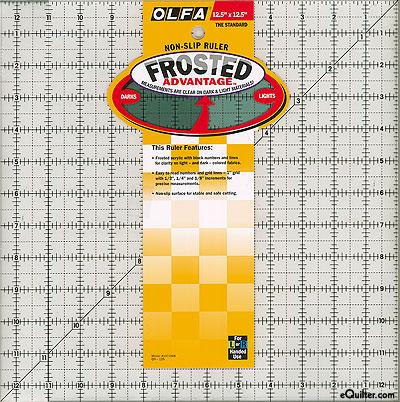 """Olfa Non-Slip Frosted Advantage Ruler - 12 1/2"""" Square"""