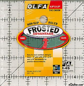 """Olfa Non-Slip Frosted Advantage Ruler - 4 1/2"""" Square"""