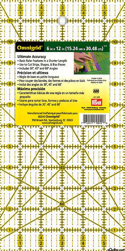 "Omnigrid Ultimate Accuracy Ruler - 6"" x 12"""
