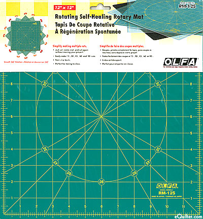 Olfa Rotating Self-Healing Rotary Mat - 360° Rotation