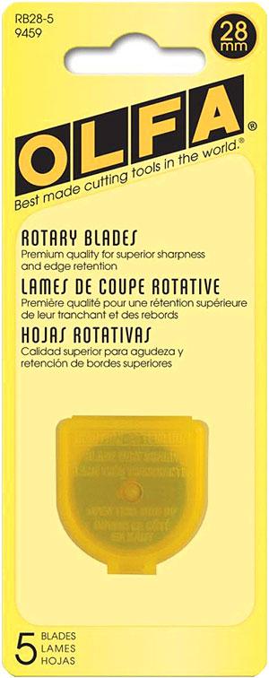 Olfa 28 mm Rotary Blades - 5 Pack