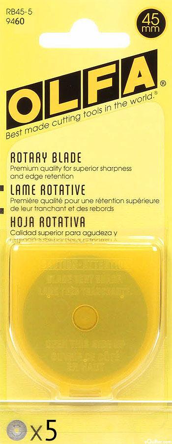 Olfa 45 mm Rotary Blades - 5 Pack