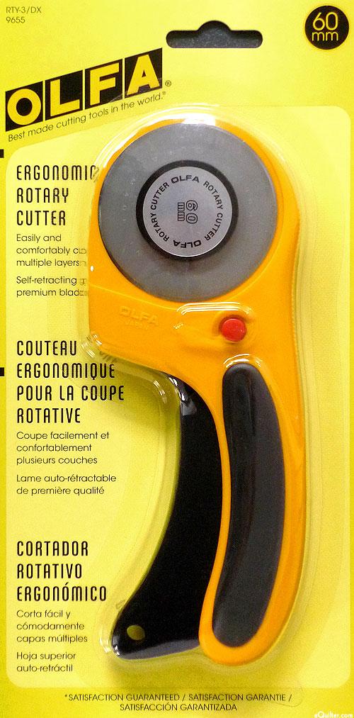 Olfa Deluxe Ergonomic Rotary Cutter - 60 mm
